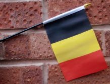 HAND WAVING FLAG (SMALL) - Belgium